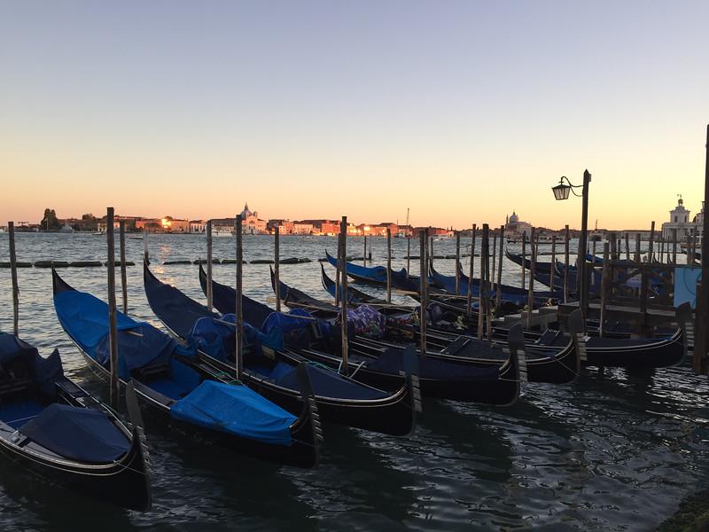 Resting gondolas. Venice