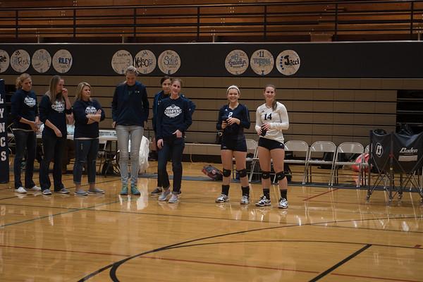Volleyball Senior Night 2016-17