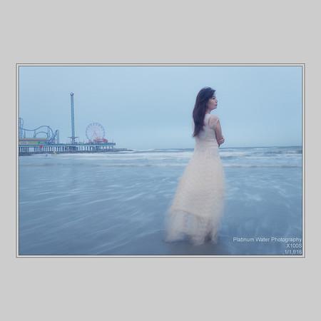 Shasha, Pleasure Pier Beach, Galveston