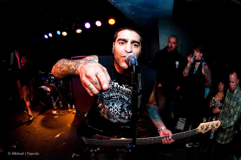Mike Gallo Agnostic Front Marquis Theater Denver, CO  09/14/11