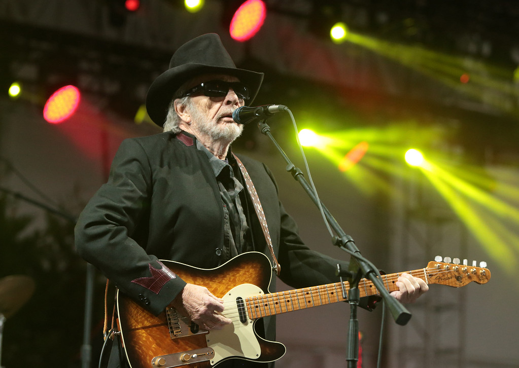 . In this June 28, 2015 file photo, singer-songwriter Merle Haggard performs at the 2015 Big Barrel Country Music Festival in Dover, Del. Haggard died of pneumonia, Wednesday, April 6, 2016, in Palo Cedro, Calif. He was 79. (Photo by Owen Sweeney/Invision/AP, File)