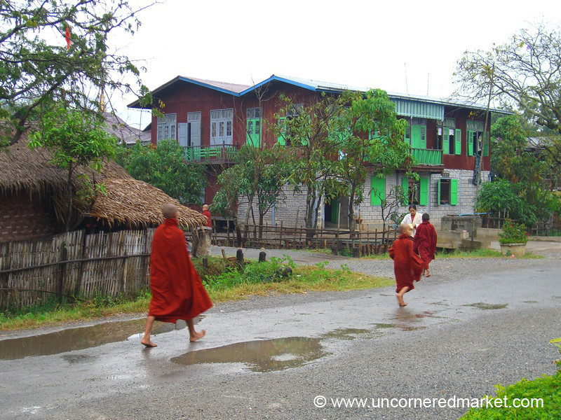 Morning Rounds for the Monks - Inle Lake, Burma