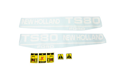 FORD NEW HOLLAND TS 80 SERIES BONNET DECAL SET
