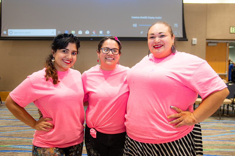 Sandra Gonzalez (left), Mayra Zamora, and Monica Marie Garcia.