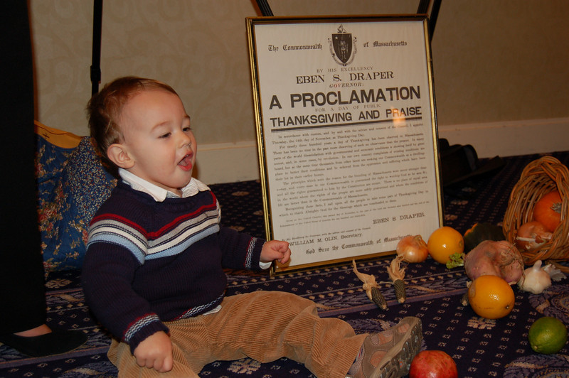 Wyatt seems to be proclaiming something....