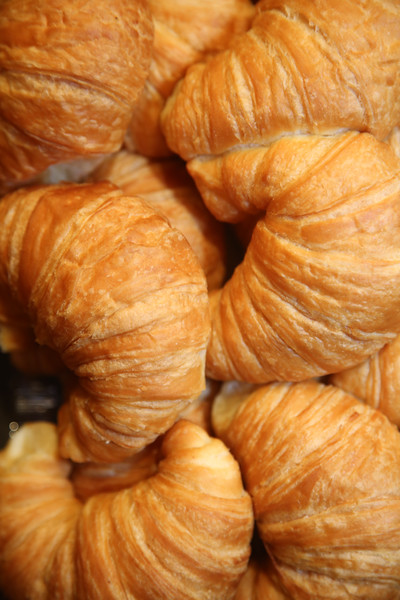 croissant. fresh baked croissants. breakfast bread. French pastry.  food and drink sandwich bread