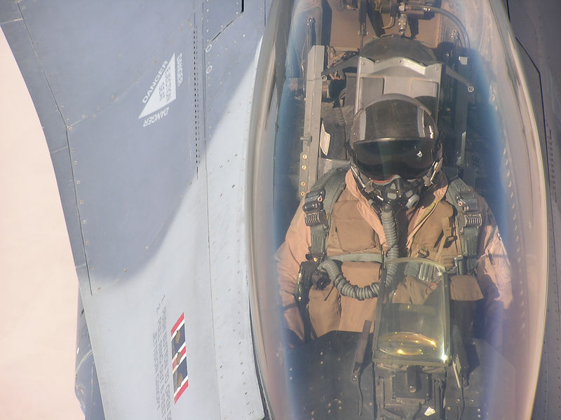 Taking fuel from an airborne tanker.  Very small cockpit compared to the Commander.