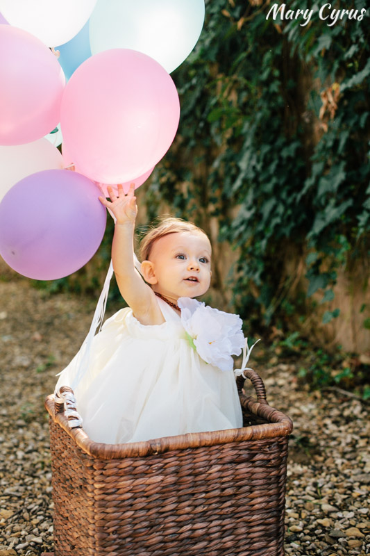 Sophia Grace's 1st Birthday Party Balloons | Photo by Mary Cyrus Photography - Portraits & Events in Dallas & Beyond