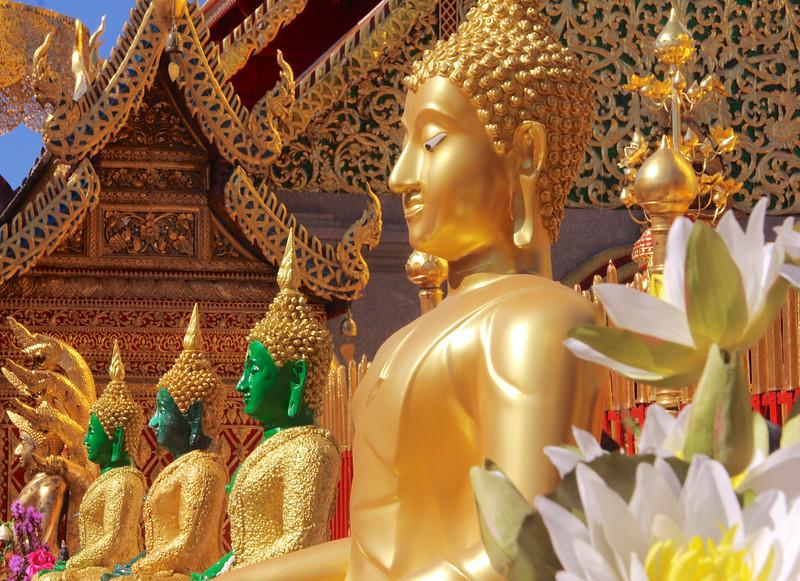 Buddhas at Wat Phra That Doi Suthep - Chiang Mai