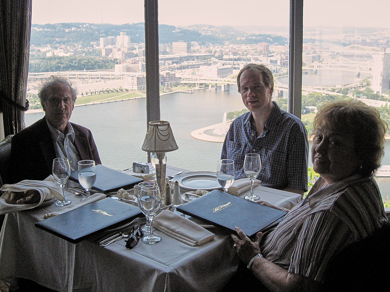 Dinner with the Lebins at LeMont restaurant in Pittsburgh PA - Larry, FL, Shirley. August 9 2006