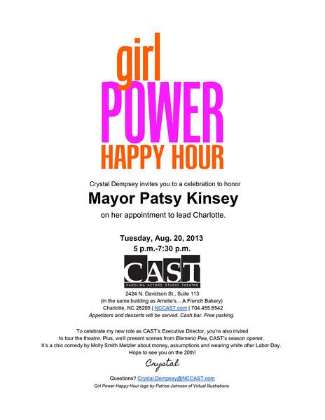 girl Power Happy Hour Honoring Mayor Patsy Kinsey @  CAST 8-20-13 by Jon Strayhorn