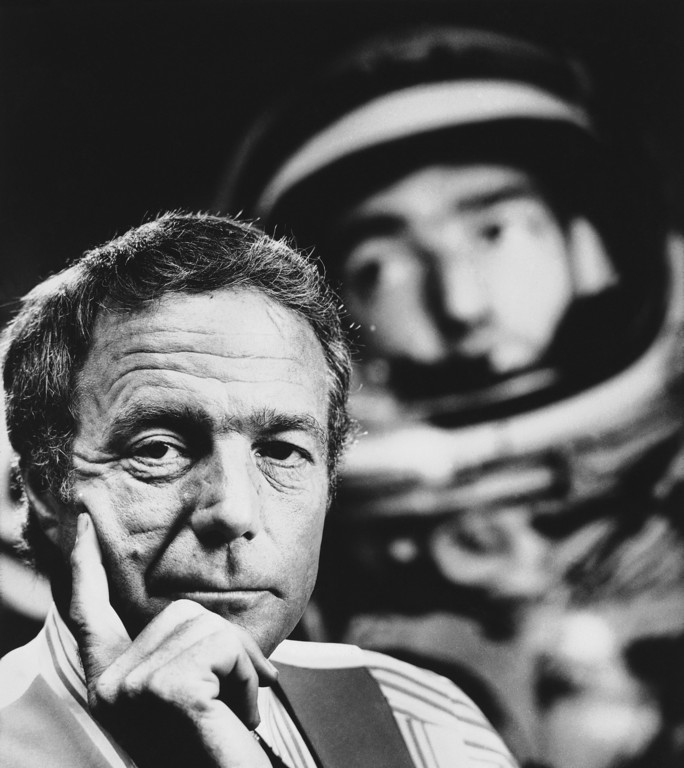 . Scott Carpenter, original astronaut and now president of mobile products division Makon industries of Huntington Park, California was pensive during an interview on Nov.10, 1977. Reflecting today?s space outlook, he says: ?we will discover extra-terrestrial life.? (AP Photo/ETA)