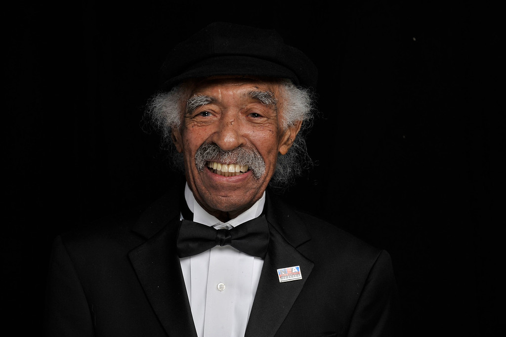 . Musician Gerald Wilson poses for a portrait during the 41st NAACP Image awards held at The Shrine Auditorium on February 26, 2010 in Los Angeles, California. Wilson died on Monday, September 8, 2014. He was 96.  http://bit.ly/1mpnPzF (Photo by Charley Gallay/Getty Images for NAACP)