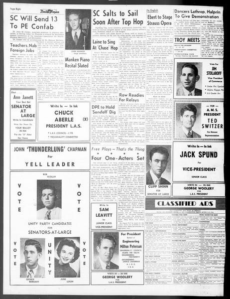 Daily Trojan, Vol. 40, No. 134, May 06, 1949