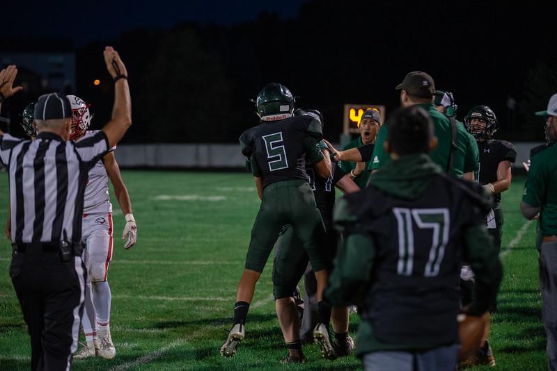 Holy Family Varsity Football vs. Mound Westonka, 8/29/19: Lucas Lembke '20 (5)