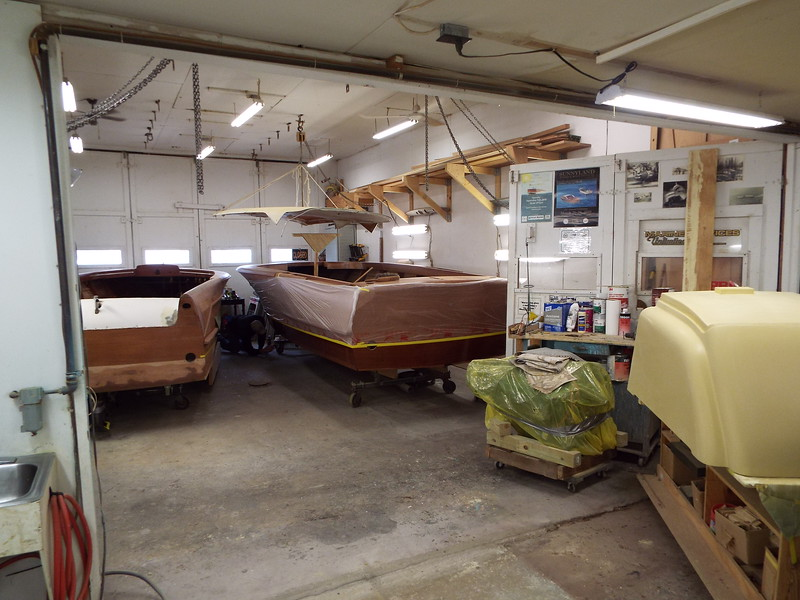 Reorganizing the shop to move the boat into the finish room.