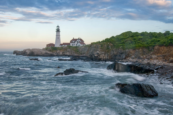 Portland Head Light Storm
