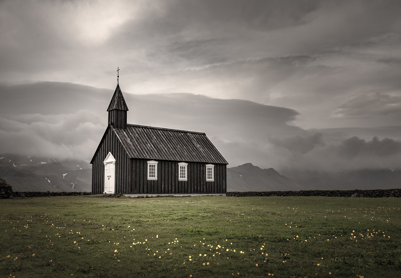 Iceland's Black Church    Photography by Wayne Heim