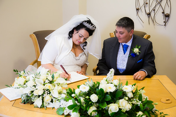 Vicki & Arlene's wedding day