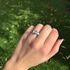 1.73ctw Blue Marquise Cut Diamond Trilogy Ring 8