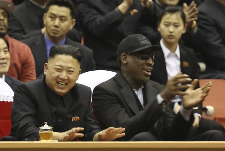 ". <p>8. DENNIS RODMAN  <p>The only thing he knows about North Korea is that it�s kinda close to South Korea and East Korea. (10) <p><b><a href=\'http://abcnews.go.com/International/dennis-rodman-best-hope-american-jailed-north-korea/story?id=20145506\' target=""_blank\""> HUH?</a></b> <p>    (AP Photo/VICE Media, Jason Mojica, File)"