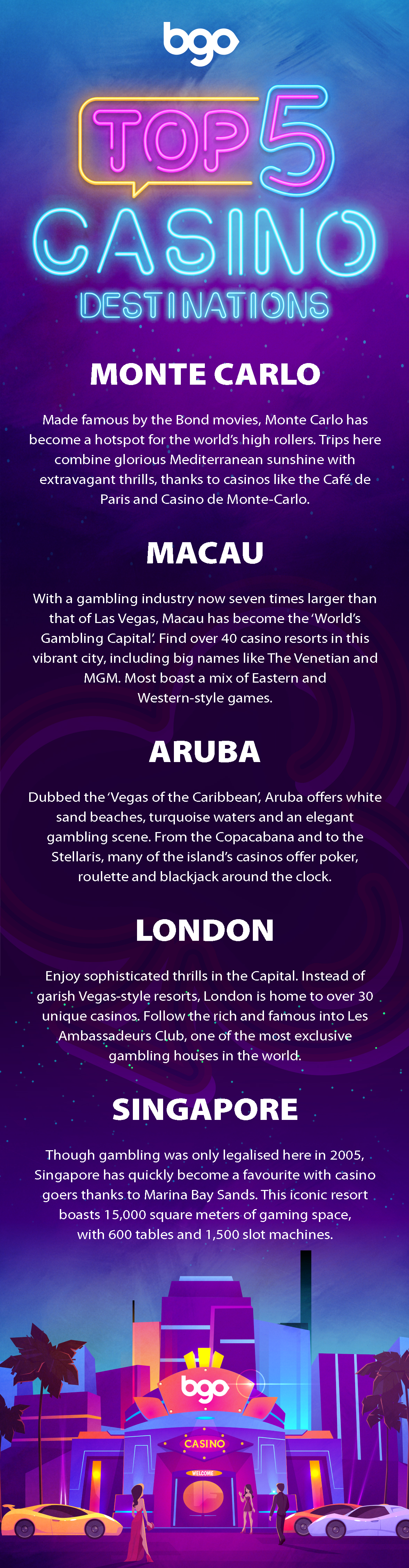 The World's Top Destinations for Casino Holidays