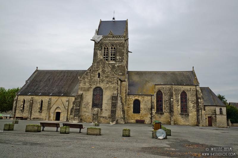 Sainte-Mere-Eglise Church    Photography by Wayne Heim