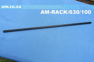 SKU: AM-RACK/630/100, 1.00 Modulus Straight-cut Gear Rack Steel 630mm
