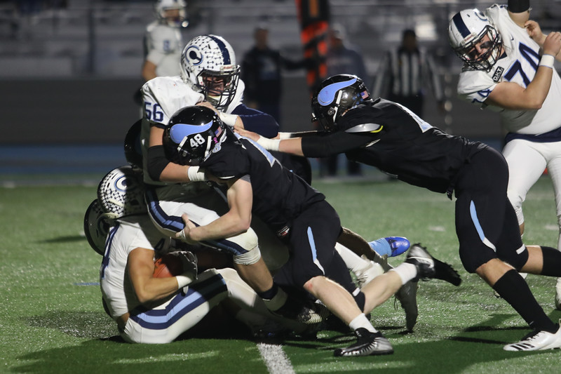 Pleasant Valley faces Central Valley Christian in the CIF State Championship game, Dec. 8, 2018, in Chico. (Carin Dorghalli -- Enterprise-Record)