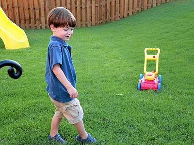 2008 Tyler Playing in the Backyard