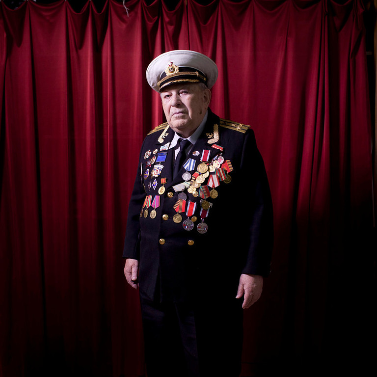""". Soviet Jewish World War Two veteran David Rivelsky poses for a portrait at his house in Jerusalem, Israel. In 1941, he took part in the heroic defense of Leningrad, as part of the Leningrad Front for which in 1943 was awarded with the medal \""""Defense of Leningrad.\"""" Rivelsky immigrated to Israel in August 1999 from St. Petersburg. About 500,000 Soviet Jews served in the Red Army during World War Two, and the majority of those still alive today live in Israel.   (AP Photo/Oded Balilty)"""