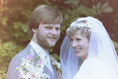 Jan & Trevors wedding Aug 1982