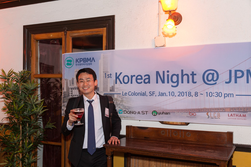 Korean Pharma event at the Le Colonial in SF.