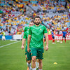 Skipper Mile Jedinak warming up | 2015 Asian Cup Final Match | Australia vs South Korea | Stadium Australia | January 31, 2015 in Sydney, Australia