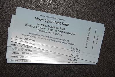 Moon Light Boat Ride, Saturday, August 20, 2011