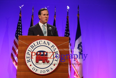 Rick Santorum Iowa GOP Lincoln Dinner