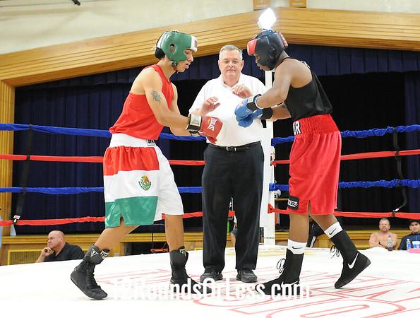 Bout #5  Brian McElarth (Akron) vs  David Rodriguez (Tallmadge)  145 lbs.