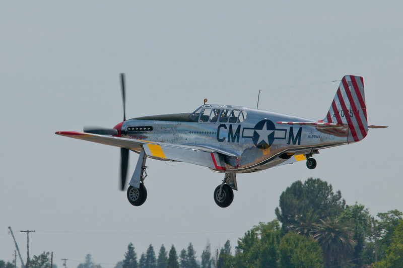 """Betty Jane"" returning to land at Lincoln, CA."