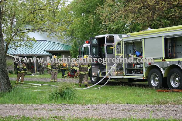 5/11/10 - NIESA/Leroy Twp House fire, 3900 E. Grand River