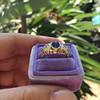 1.75ctw Cab Sapphire and Old European Cut Diamond 3-stone Ring 16