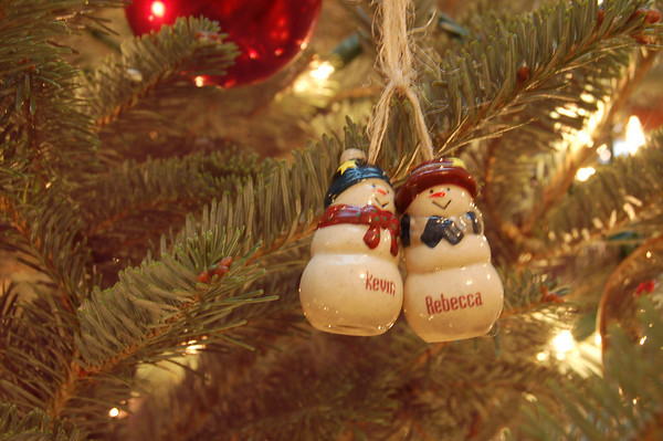 Kevin and Rebecca Ornaments