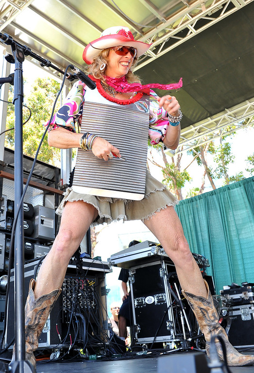 . 6/22/13 - Sister Judy playing with the Bayou Brothers on stage during the  27th Annual Long Beach Bayou and Blues Festival at Rainbow Harbor. Photo by Brittany Murray / Staff Photographer