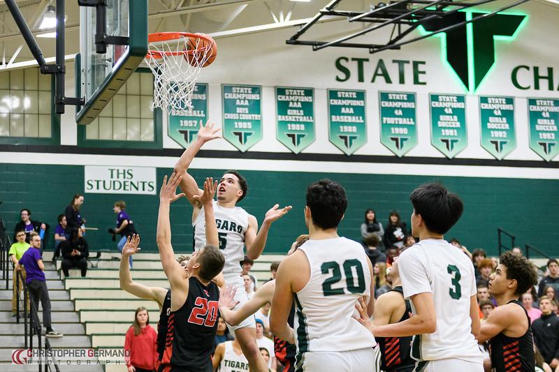 THS Boys Varsity Basketball vs Oregon City