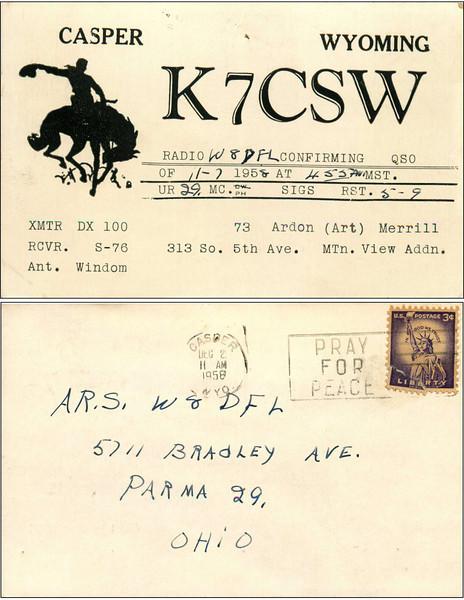 W8DFL QSL Cards - 8/15/2011
