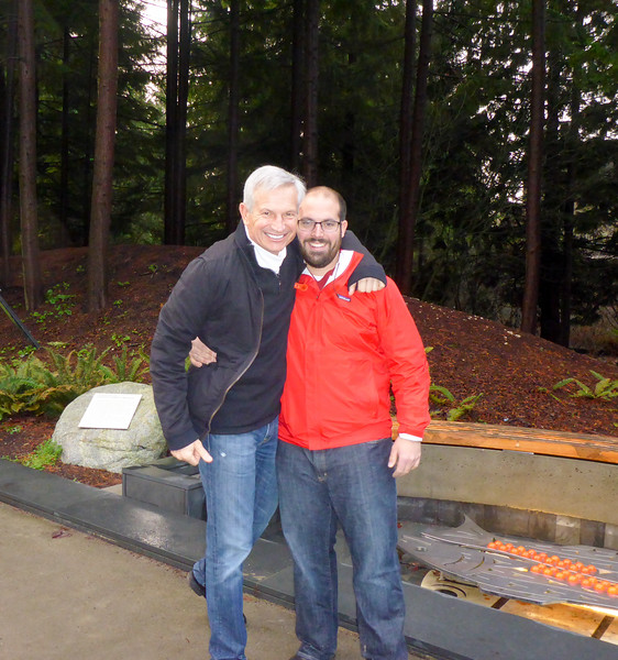 Dad and Matt outside the UBC Museum of Anthropology.