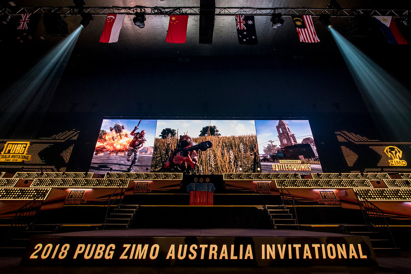 PUBG Esports. Documenting the setup of the huge video screen