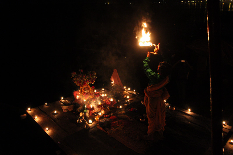 Light ritual in Varanasi