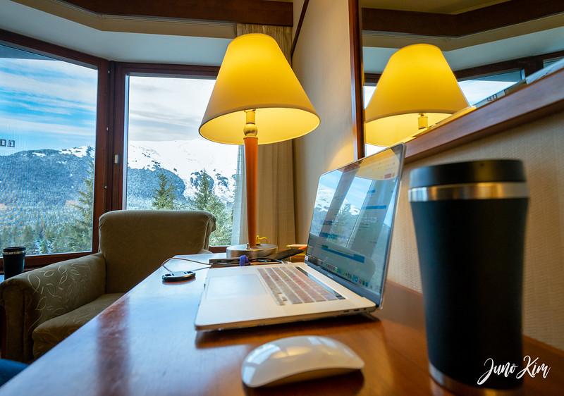 Working remotely from Alyeska Resort