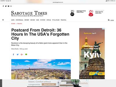 Sabotage Time Article
