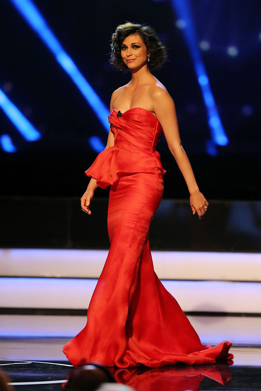 . Morena Baccarin on stage during the awards show for the 2013 Laureus World Sports Awards at the Theatro Municipal Do Rio de Janeiro on March 11, 2013 in Rio de Janeiro, Brazil.  (Photo by Ian Walton/Getty Images For Laureus)